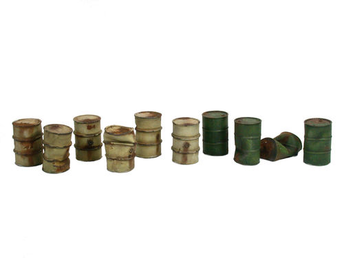 Set of oilbarrels