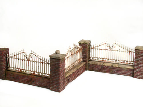 Brickwall with fence set