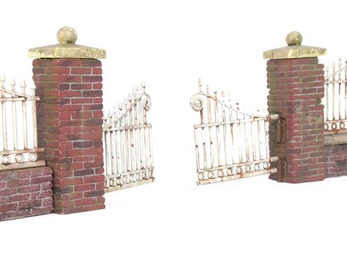 Brickwall with fence gate