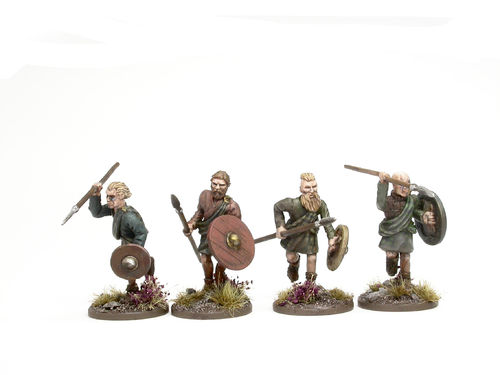 Scottish Clansmen with spears