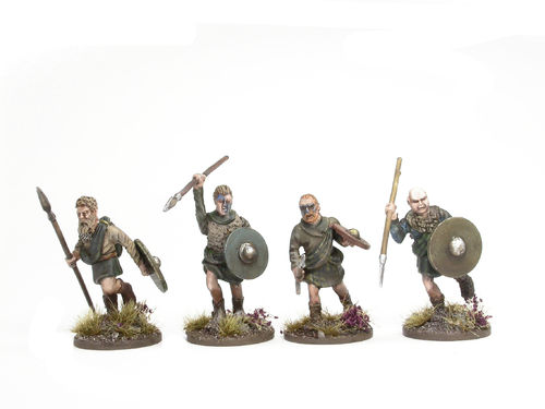 Scottish Clansmen with spears 2